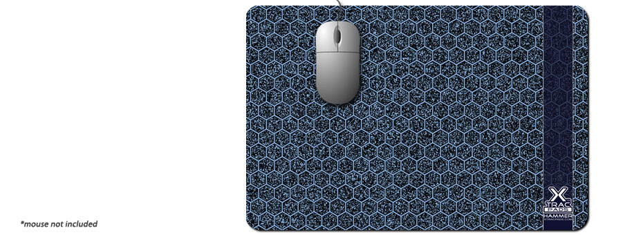 XTracGear Hammer XL sized plastic surface mouse pad. Great for gamers!