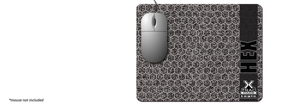 Logic Hex by XTracGear is a super thin desktop skin computer mouse surface. Designed with our Hi-Def hexagon pattern for greater mouse cursor accuracy.