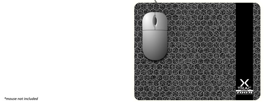 Zoom by XTracGear is a large sized plastic surface computer mouse pad designed for speed and accuracy. Made in USA.